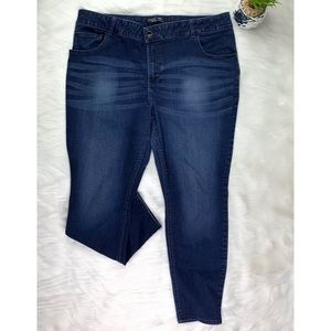 Womens 22W M Lee Riders mid rise slim boot jeans